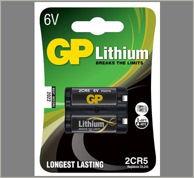 Photo of GP 2CR5 Lithium Battery, 1pk