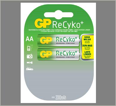 Photo of GP Recyko AA NiMh Rechargeable Battery, 2pk