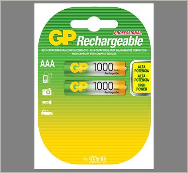 Photo of GP AAA NiMh Rechargeable Battery, 2pk