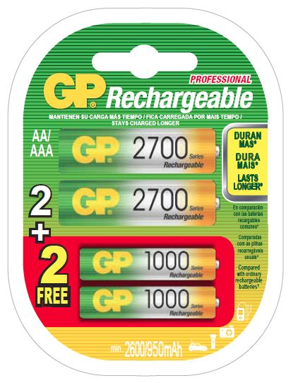 Photo of GP Batteries NiMh 2+2 Promo Pack