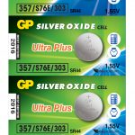 Photo of GP Ultra Plus 357 Silver Oxide Button Cell, 5pc