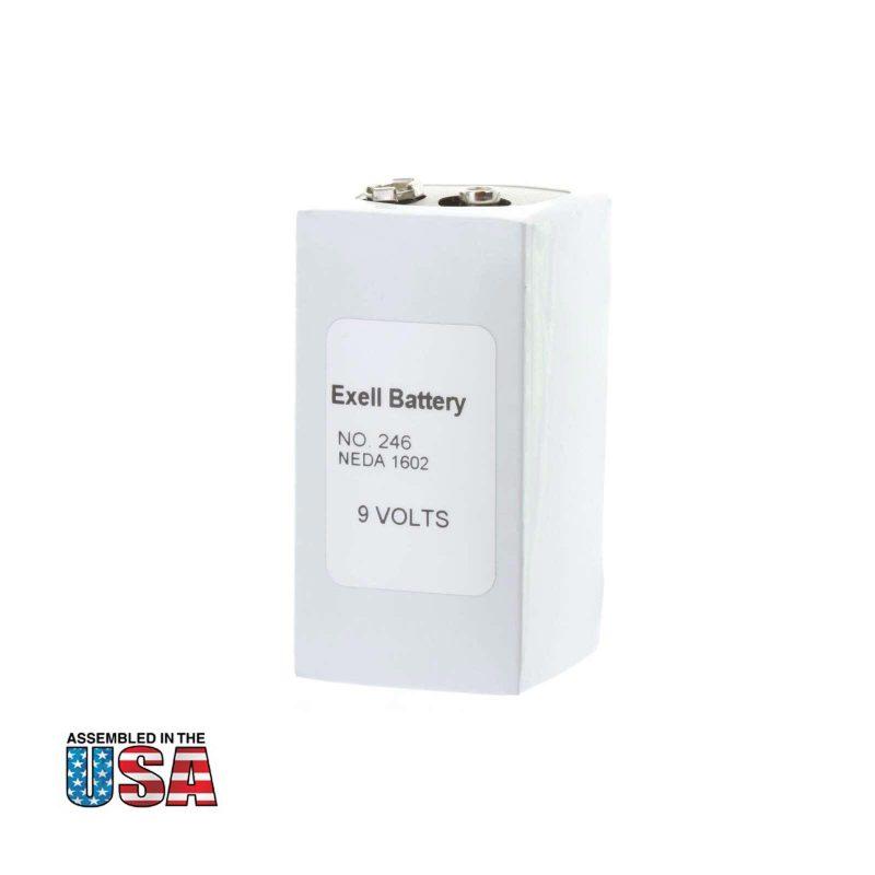 """Photo of Exell Battery """"246"""" 9V Alkaline Battery"""