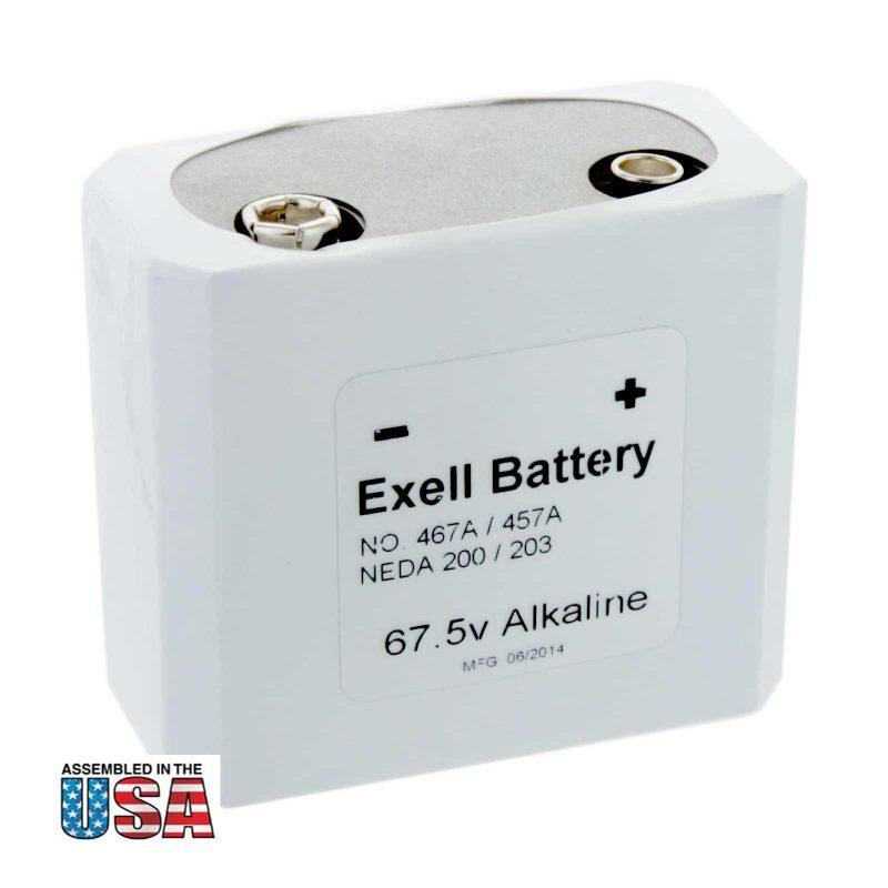 """Photo of Exell Battery """"457/467"""" 67.5V Alkaline Battery"""