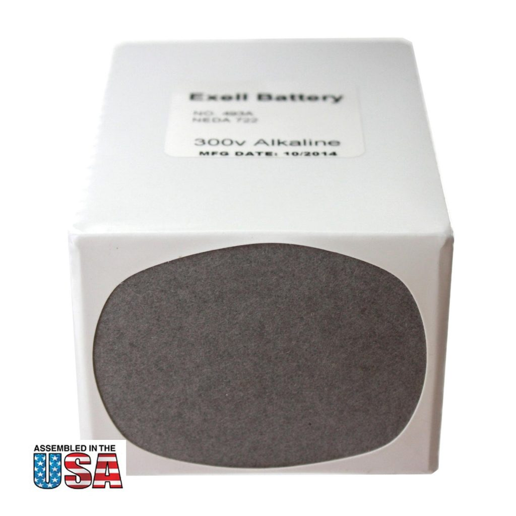 """Photo of Exell Battery """"493A"""" 300V Alkaline Battery"""