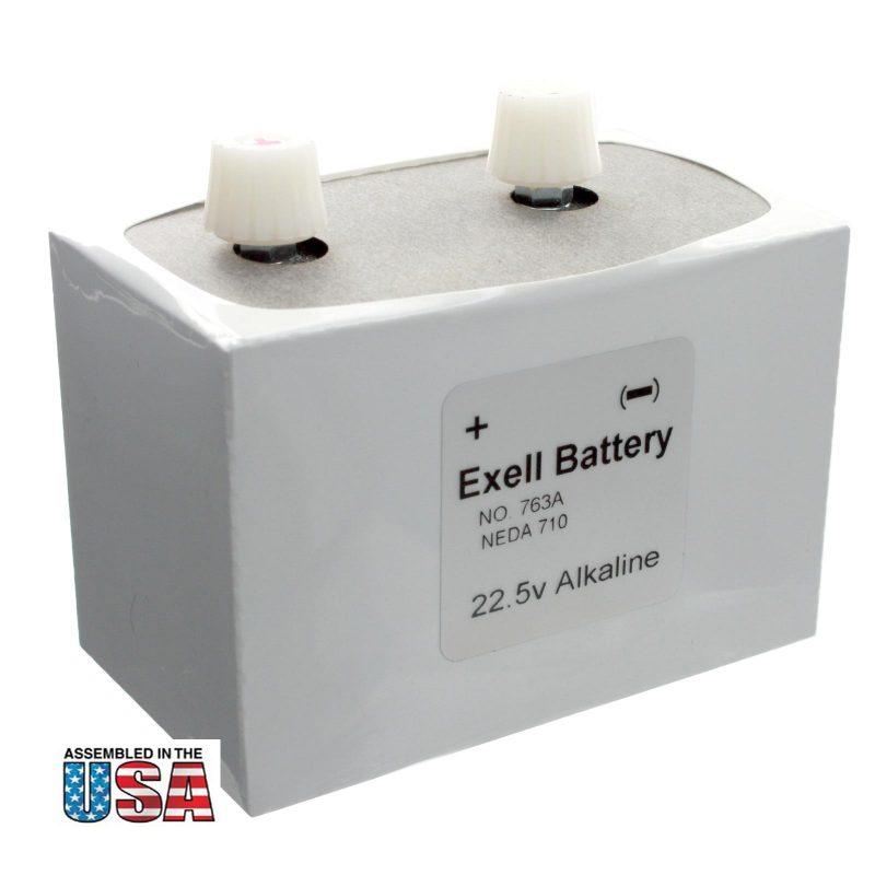 """Photo of Exell Battery """"763"""" 22.5V Alkaline Battery"""