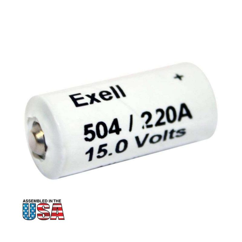 """Photo of Exell Battery """"A220/504A"""" 15V Alkaline Battery"""