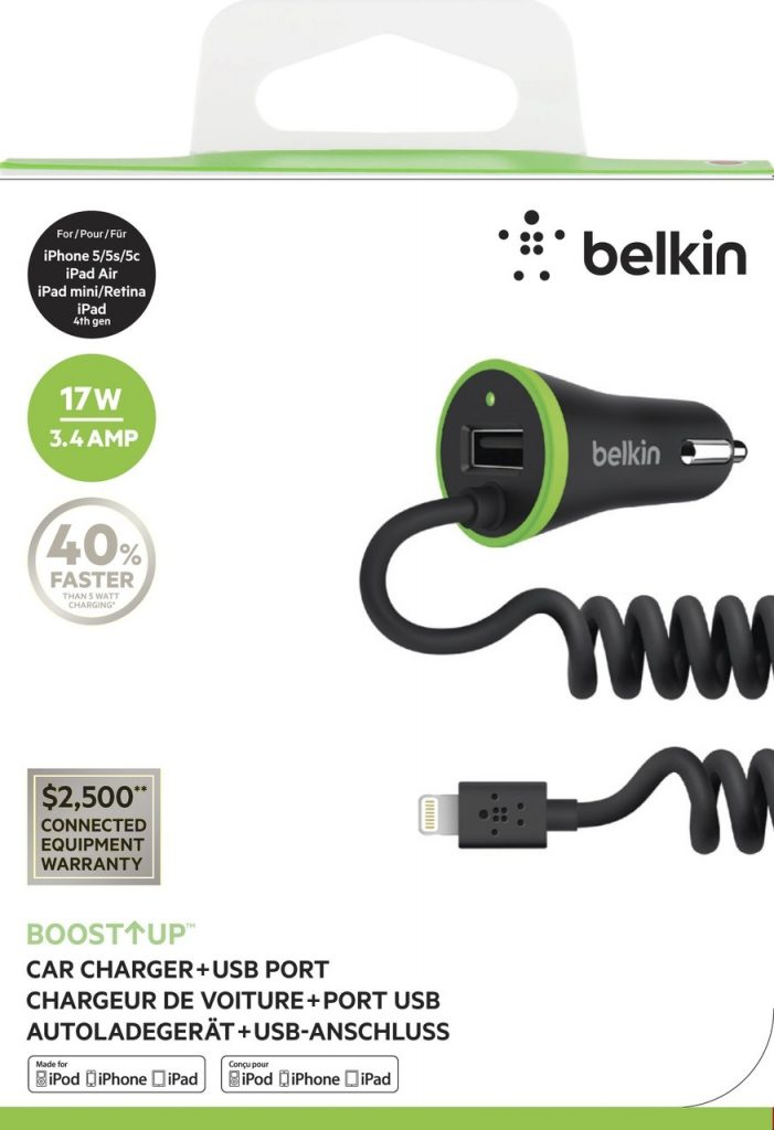 Photo of Belkin BOOSTUP Lightning Car Charger + USB Port, black