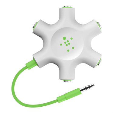 Photo of Belkin Rockstar Multi Headphone Splitter, green