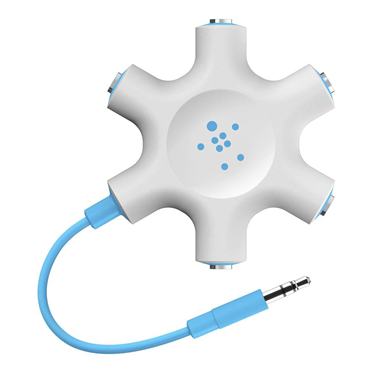 Photo of Belkin Rockstar Multi Headphone Splitter, blue