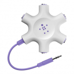 Photo of Belkin Rockstar Multi Headphone Splitter, purple