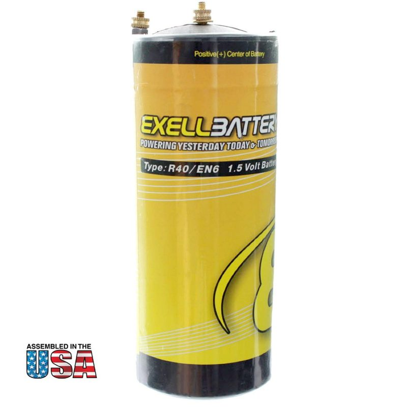 "Photo of Exell Battery ""EB-R40"" 1.5V Carbon Zinc Battery"