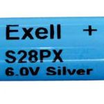"""Photo of Exell Battery """"S28PX"""" 6V Silver Oxide Battery"""