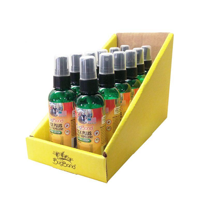 Photo of BugBand Tick Plus Spray Bottles 12ct, Countertop Display