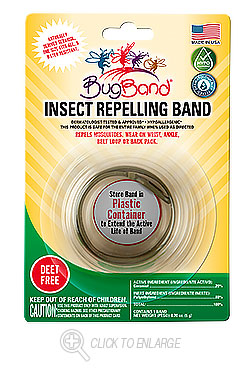 Photo of **DISCONTINUED**BugBand Wristband, Asst'd Colors, 1pk Carded