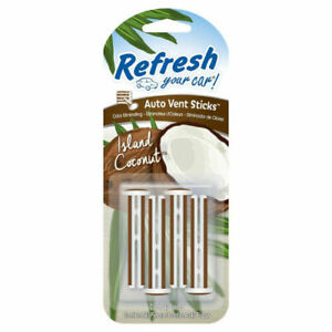Photo of Refresh Your Car 4pk Vent Sticks Island Coconut