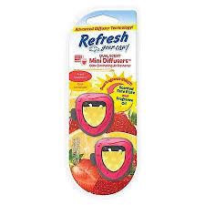 Photo of Refresh Your Car Mini Dual Scent Diffuser Fresh Strawberry/Cool Lemonade