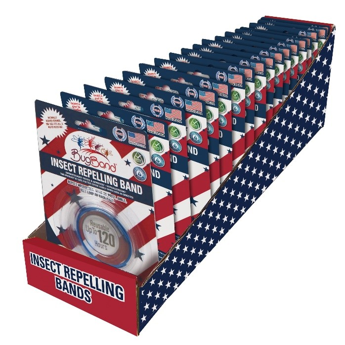 Photo of 48 Piece Red, white, and Blue wristbands (Display included)