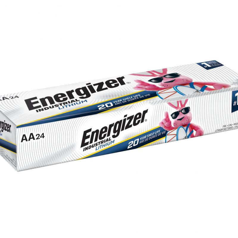 Photo of Energizer Industrial Lithium AA Batteries, 24 Pack.