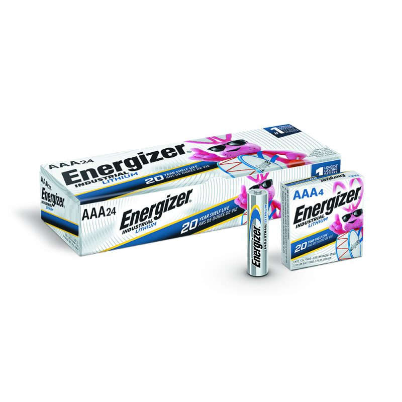 Photo of Energizer Industrial Lithium AAA Batteries, 24 Pack