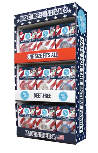 Photo of Bite me Not®48pc Red White Blue wristbands (Power Wing Display)