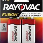 Photo of Rayovac Fusion Alkaline Carded 9v , 2pk (Trayed)