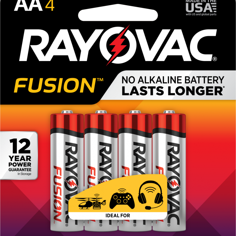 Photo of Fusion™ Alkaline Carded AA , 4pk (Trayed)