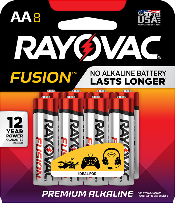 Photo of Fusion™ Alkaline Carded AA , 8pk (Trayed)