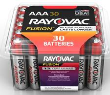 Photo of Rayovac Fusion Alkaline Recloseable AAA 30Count Pro Pack