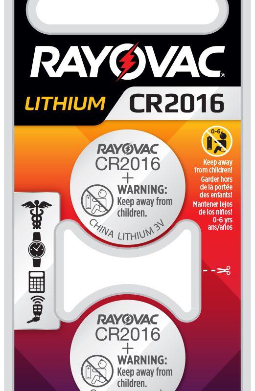 Photo of RAYOVAC® Lithium Keyless 2016,  2 Pack